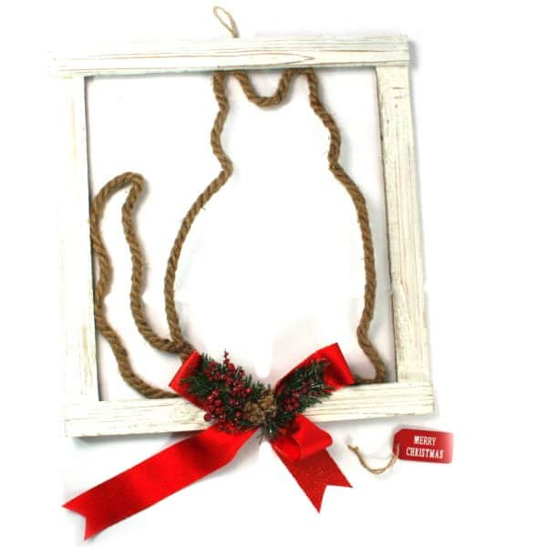 Cat Frame Christmas Decoration