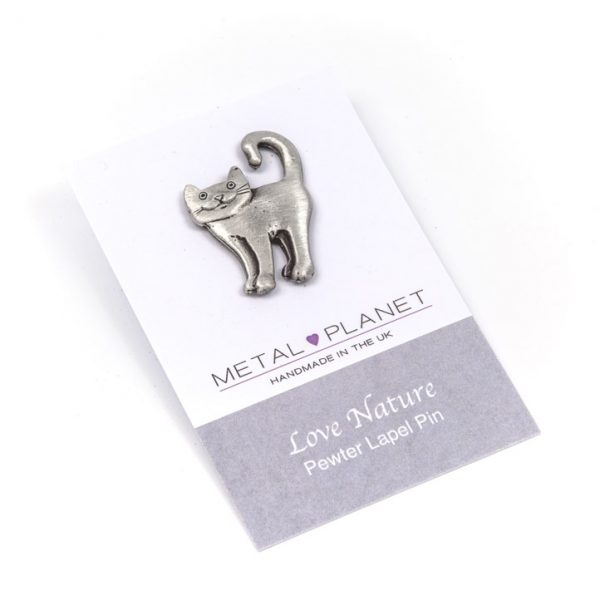 Curly Tail Cat Pin