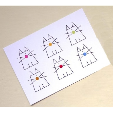 Cats With Dots Postcards
