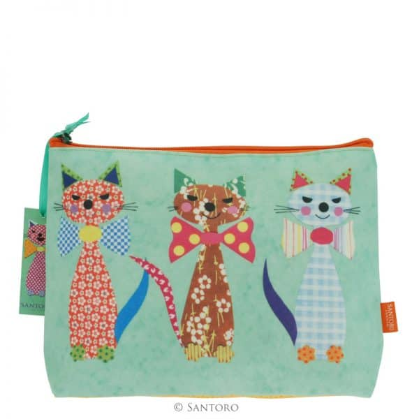 Santoro cats with bowties accessory case back