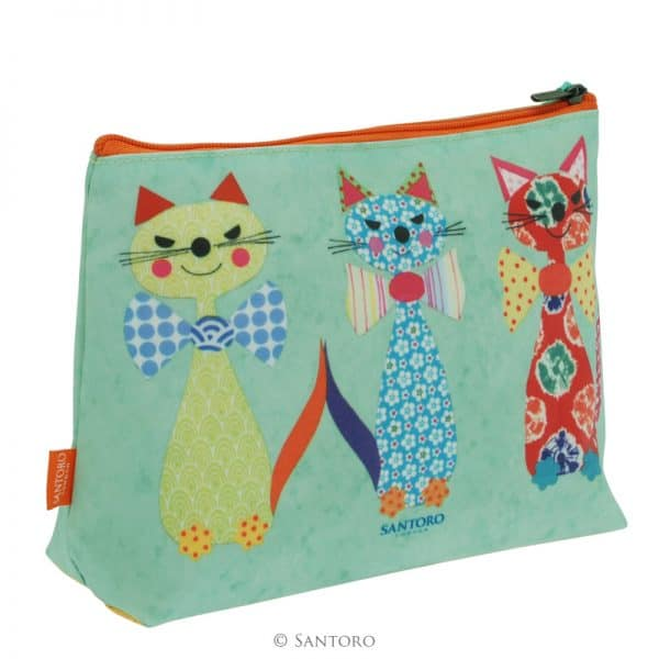 Cats with Bowties Large Coated Accessory Bag