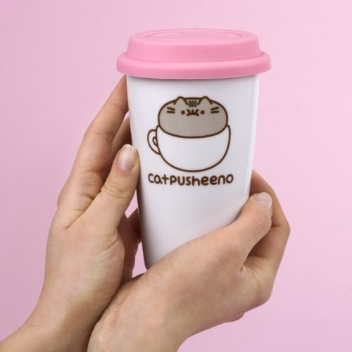 catpusheeno travel mug