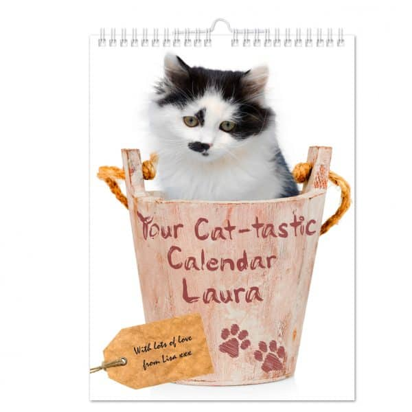 Personalised Your Cat-tastic A4 Wall Calendar