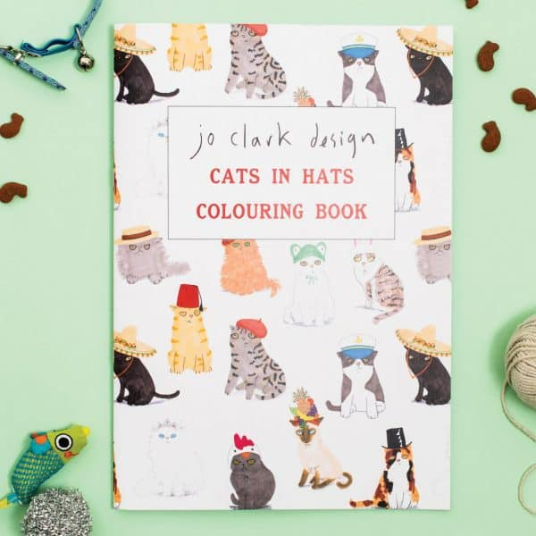Cats In Hats Colouring Book