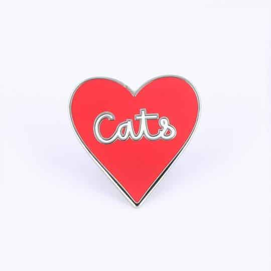 Punky Pins Love of Cats Enamel Pin