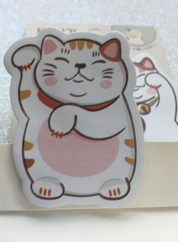 Lucky Cat Pack Of 3 Sticky Notes