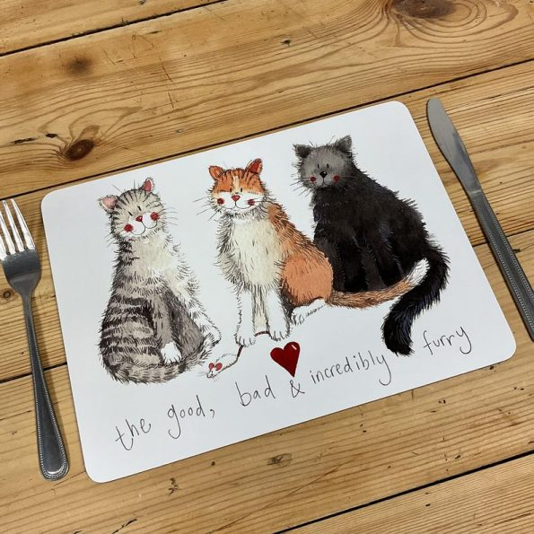 Alex Clark The Good, The Bad and Incredibly Furry Placemat